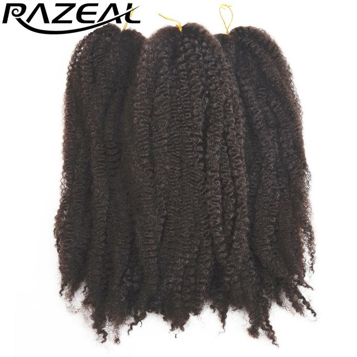 """[Visit to Buy] Razeal 6Packs Afro Kinky Marley Braid Extensions 18"""" Synthetic Braiding Hair Colors Ombre Crochet Braids High Temperature Fiber  #Advertisement"""