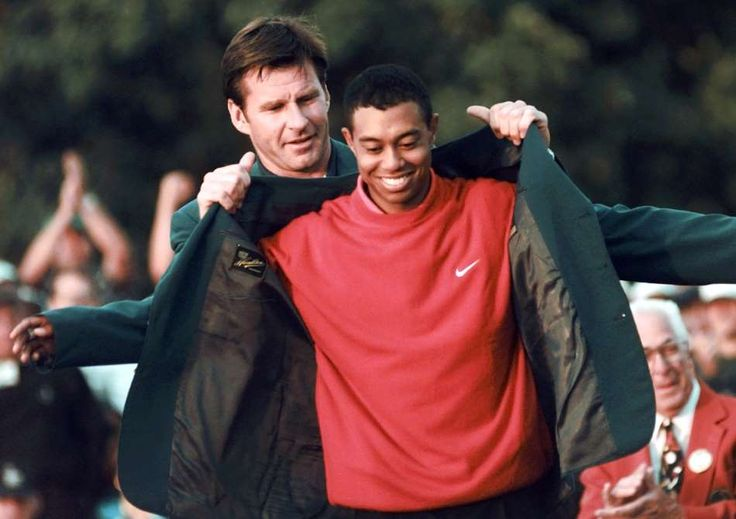 April 13,  1997: TIGER WOODS WINS FIRST MAJOR  -    Tiger Woods, at age 21 years and 3½ months, becomes the youngest player to win the Masters Tournament by a record 12 strokes at Augusta National Golf Club.