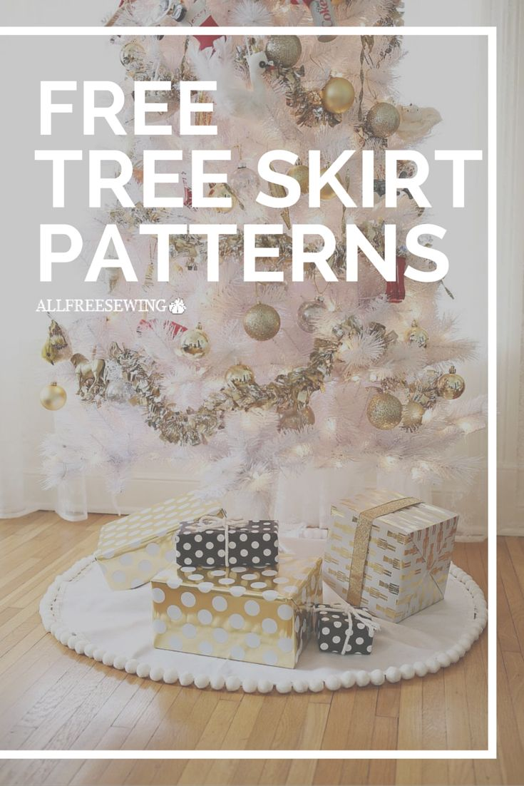 Tree Skirt Patterns To Sew Plus Some No Sew Ideas Too