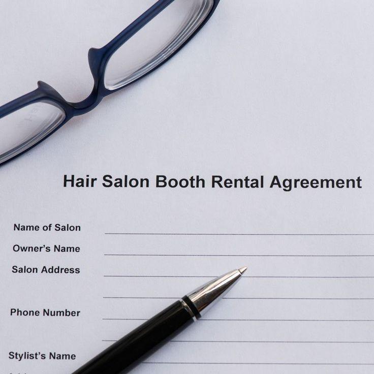 Booth rental salon agreement booth rent salon salons