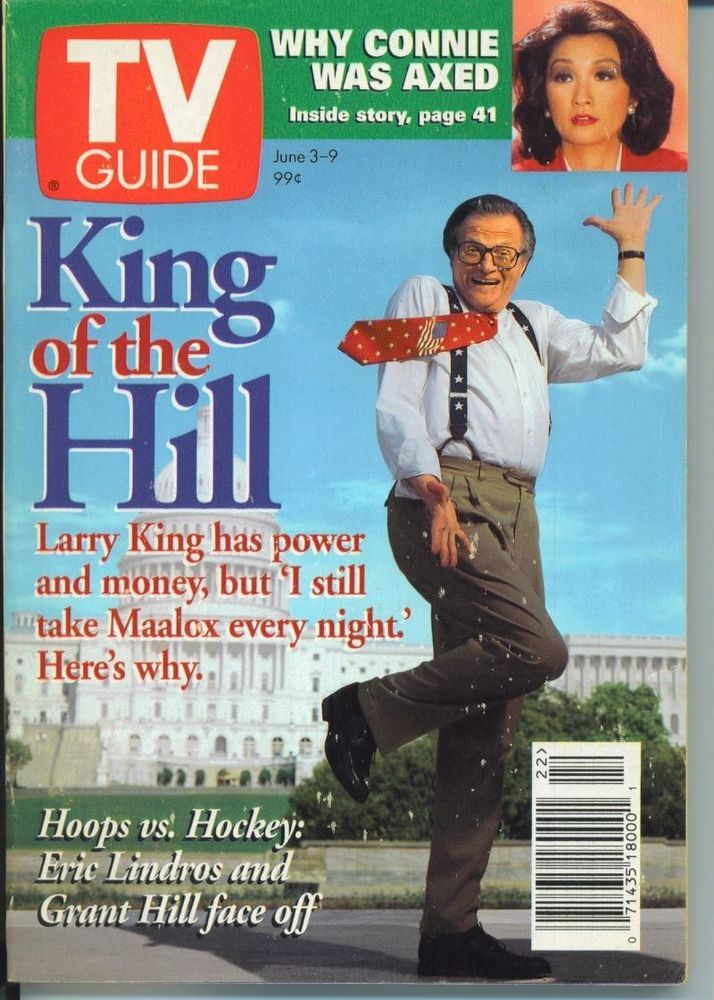 CLEVELAND TV GUIDE 6-3-1995 AMANDA DONAHOE~GRANT HILL~LARRY KING~ERIC LINDROS