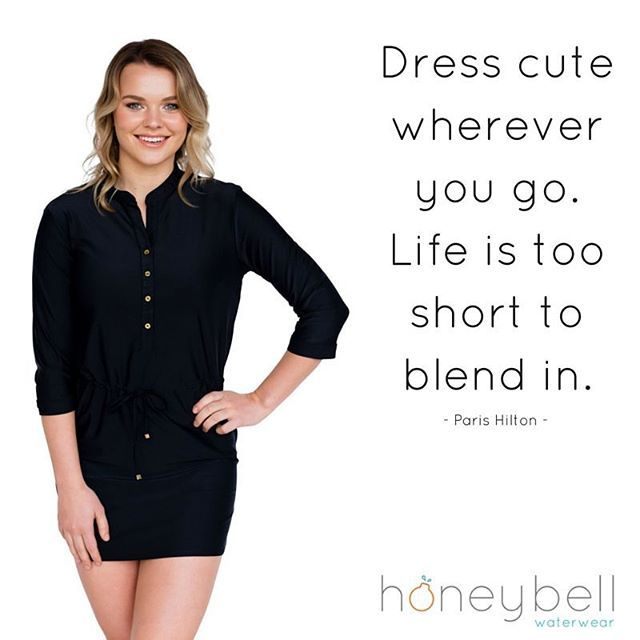 Life is too short to blend in - so get out there today and own it! xo.   Model wears The latest Honeybell Waterwear designer shirt dress!   Sun protection coverups and resort wear with style. The latest summer trend!