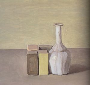 Giorgio Morandi, Natura Morta (Still Life), 1954,  oil on canvas, 40 x 46 cm.  (Private collection.)
