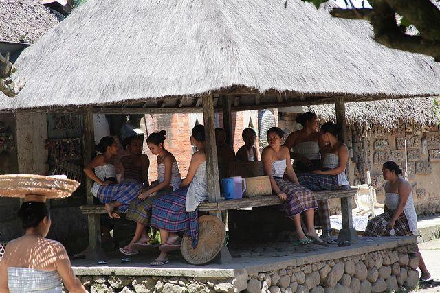 woman at Tenganan, Bali traditional village