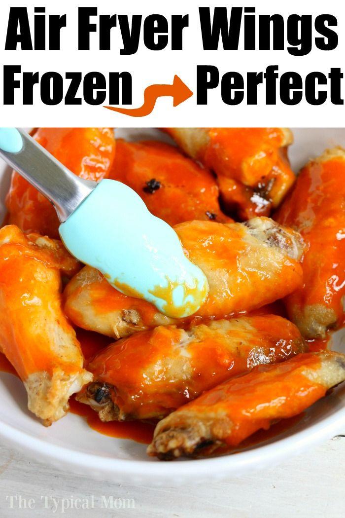 Air Fryer Frozen Wings Airfryerwings Frozenwings Chickenwings