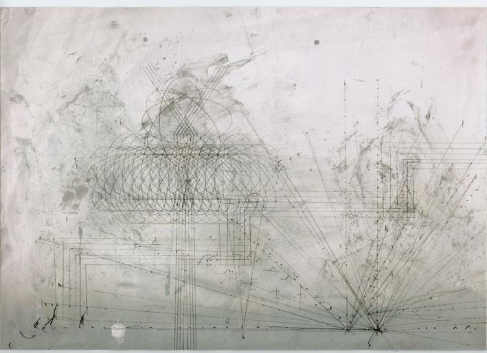 Drawing by Roberto Calbucci.