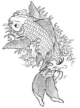 Hand drawn koi fish royalty free stock vector art illustration ink pinterest hands art - Dessin carpe koi ...