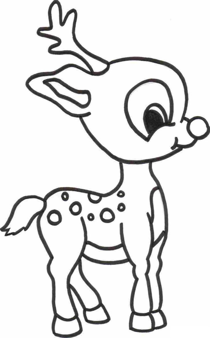 Coloring pages animal jam - Rudolph Coloring Page For Kids