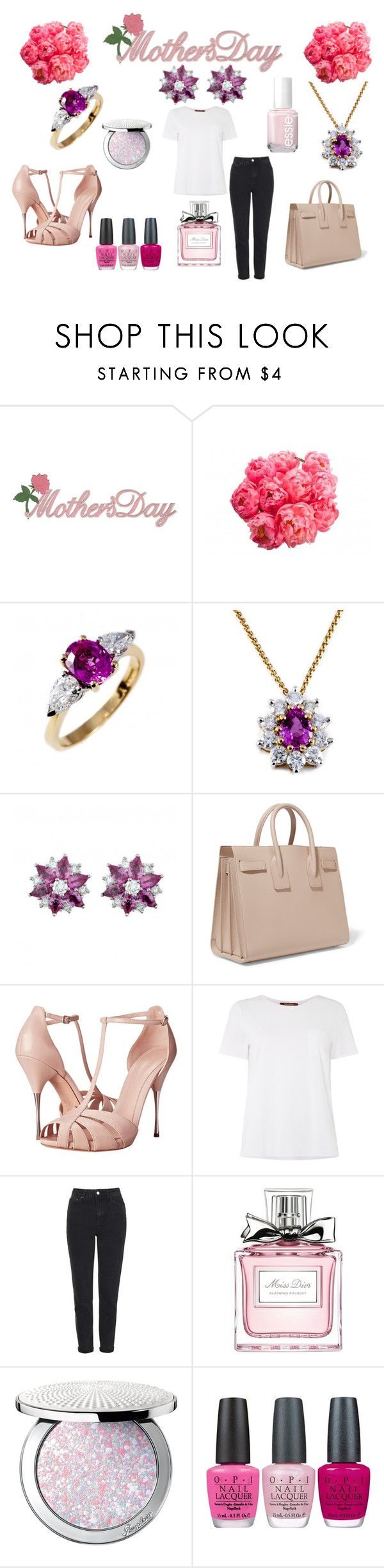 """Mothers Day Gift Guide"" by jamesness on Polyvore featuring Yves Saint Laurent, Alexander McQueen, MaxMara, Topshop, Christian Dior, Guerlain, OPI and Essie"