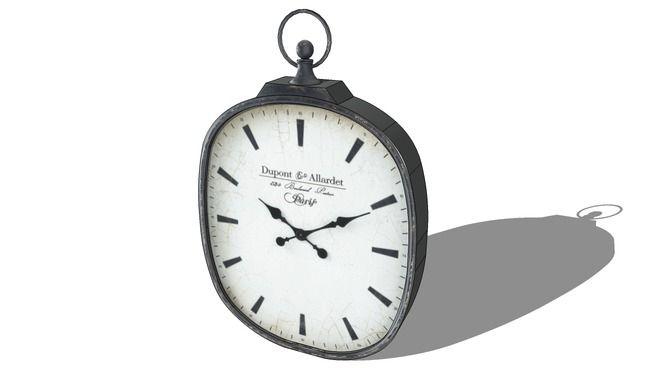 Horloge, Maisons du monde. Réf: 129.960 Prix:149€ - 3D Warehouse
