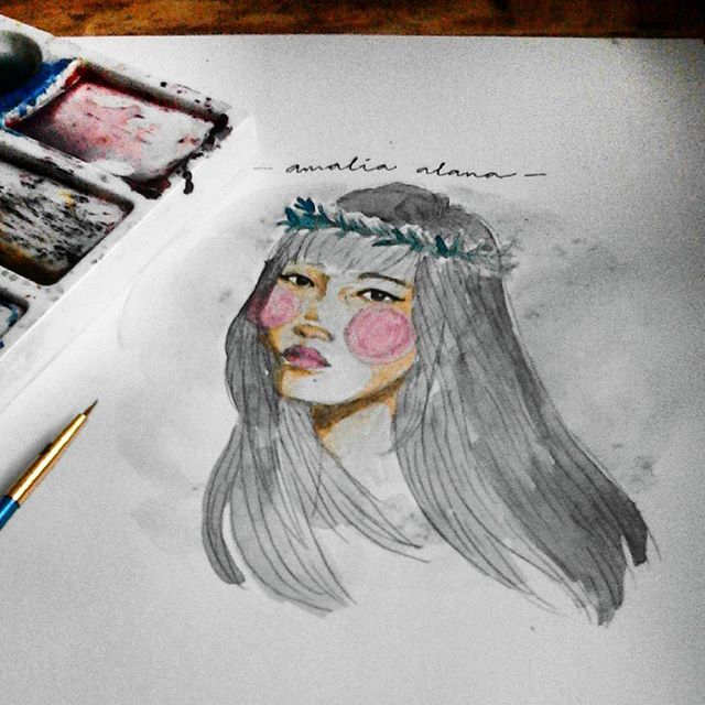 """""""Better to be strong than pretty and useless."""" – Lilith Saintcrow . .  x @amhpsr  #illustration #sketch #watercolor #doodle #art #artwork #handmade #drawing #passion"""