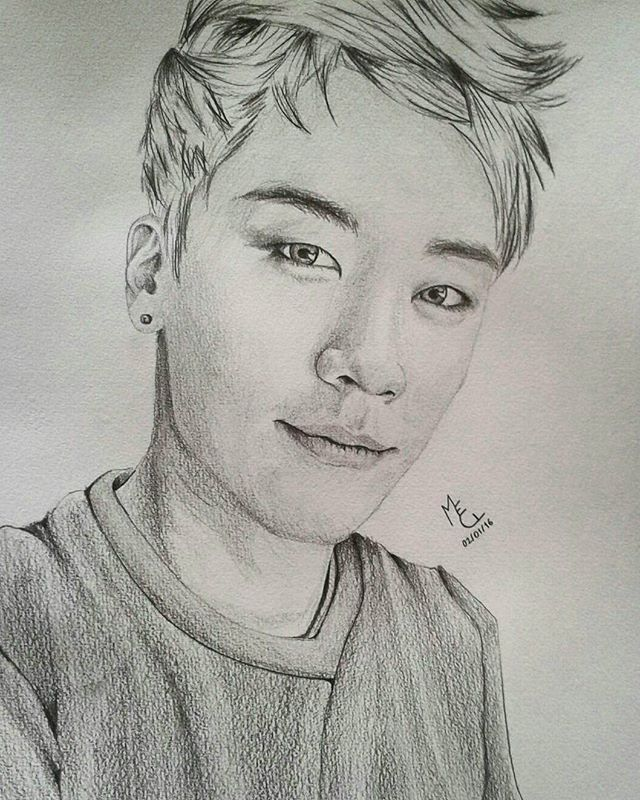 Bigbang Seungri! Just felt like doing blue eyes, he looks so good like that  #leeseunghyun #leeseungri #seungri #bigbangseungri #bigbang #vi #yg #ygfamily #vip #drawing #draw #art #fanart #kpopfanart #kpopart #artwork #korea #kpop #asian #korean #portrait