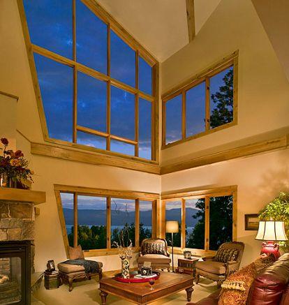 Tall Narrow Fireplace Tall And Narrow Windows Create Big