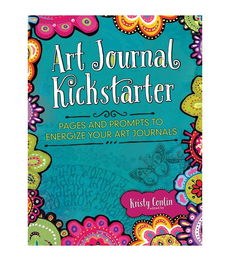 Bring out the creativity in you with the Art Journal Kickstarter book. It makes a fabulous gift for a friend who loves keeping journals. This book comes complete with 151 original art journal pages an