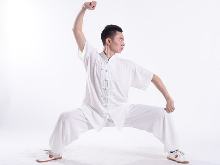 Professional Sportive Function Tai Chi Uniform Summer for Men and Women Short  Sleeve White