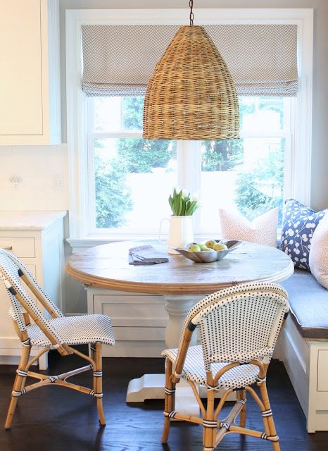 A finished look for a friend's kitchen nook!