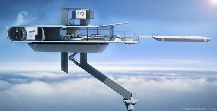 Oblivion Sky Tower/ 3d Render Day