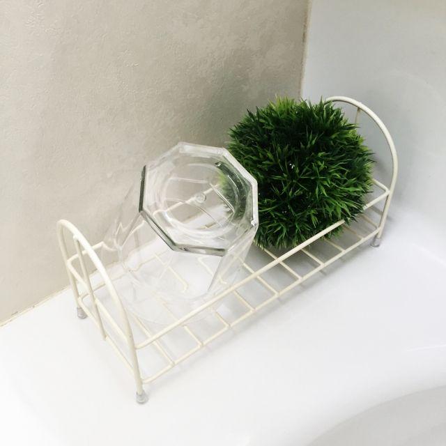 衛生面にもこだわる!キッチンや洗面所の「コップ」収納 | RoomClip ... ワイヤーラックで収納