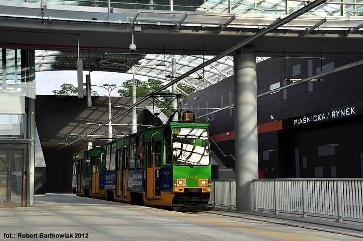 Poznań, tramwaj Konstal 105Na #244+243. Tuż przed otwarciem tunelu na Franowo. - #Poznan, #tramwaj, #tram, #franowo