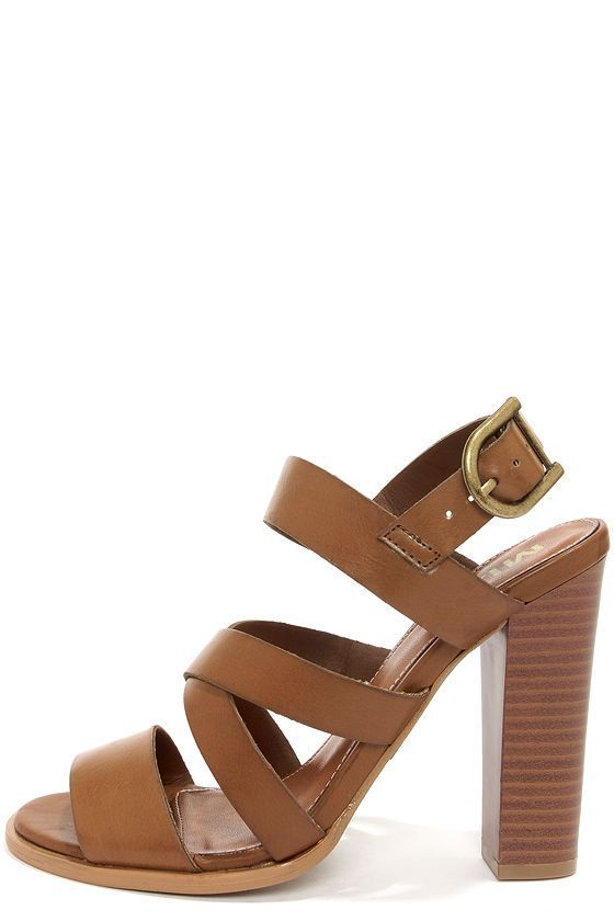 791bb357d5cba0 The Mia Taylor Tan High Heel Sandals have a set of tan faux leather straps  climb