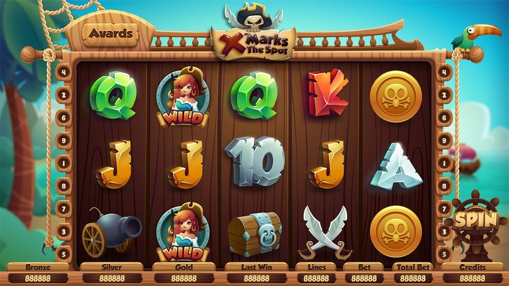 Slot machine design in a pirate theme for desktop slots. We had an aim of creating the new look...