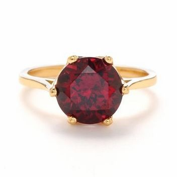 5 Crazy-Pretty Engagement Rings with Garnets! (p.s. Happy Birthday, January Babies!) : Save the Date