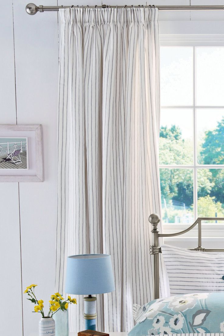Grey stripe curtains from Next £70