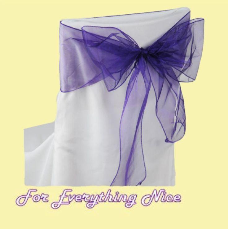For Everything Genealogy - Deep Purple Organza Wedding Chair Sash Ribbon Bow Decorations x 100, $235.00 (http://foreverythinggenealogy.mybigcommerce.com/deep-purple-organza-wedding-chair-sash-ribbon-bow-decorations-x-100/)