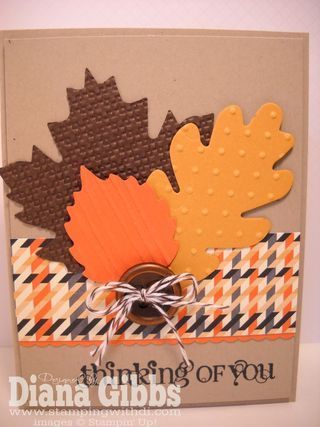 Stampin' Up! Fall  by Diana Gibbs at Stamping With Di