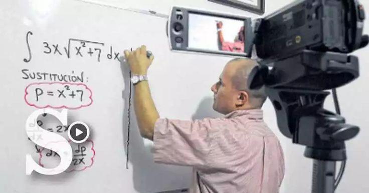 Julio Alberto Ríos, un docente de matemáticas, triunfó en Youtube desde el 2012.
