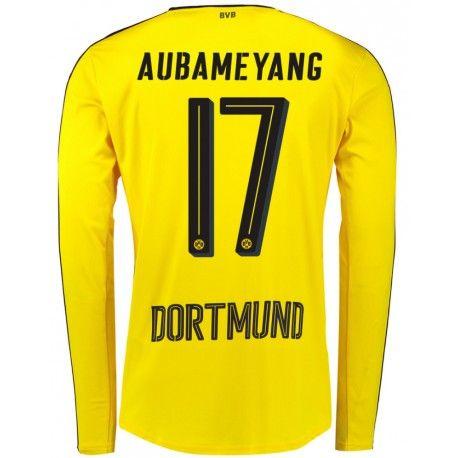 Maillot Dortmund AUBAMEYANG 2016/2017 Manches Longues  Officiel Domicile. Flocages Personnalisés Disponibles.