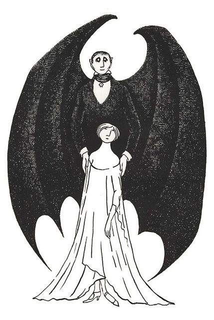Dracula by Edward Gorey - I want this as a tattoo