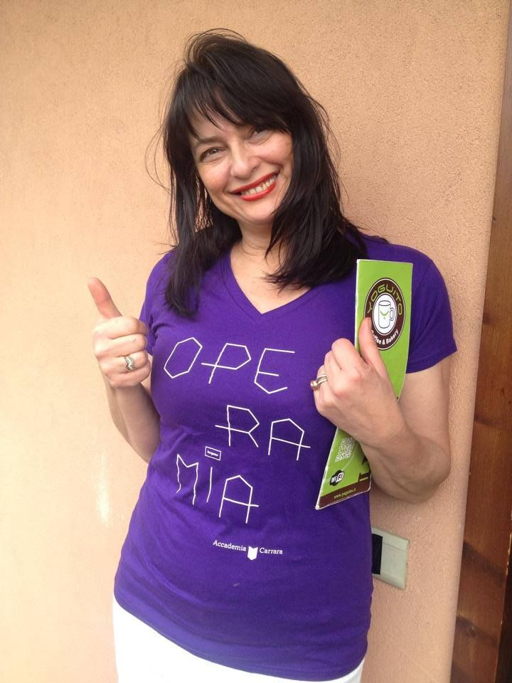 Emanuela, contributor with #operamia t-shirt crowdfunding projoct 2014