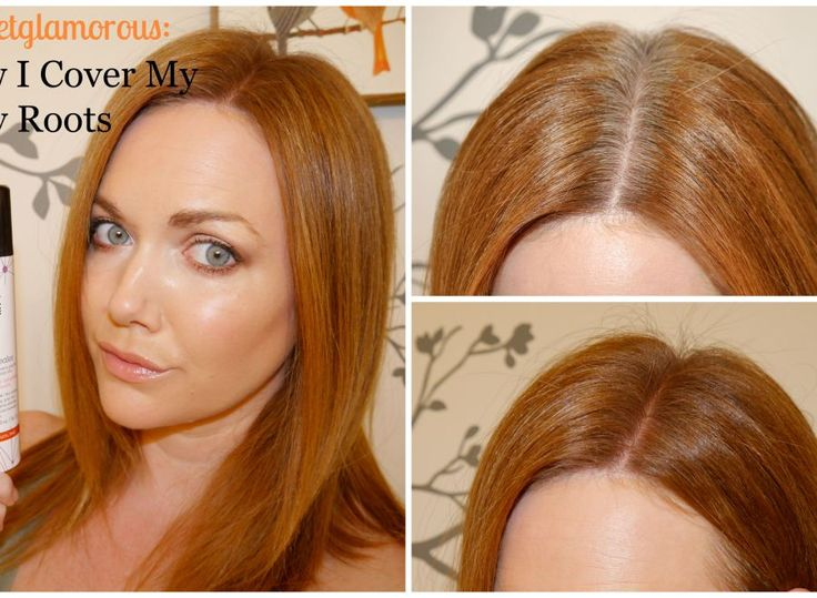 Touch up root concealer spray for red hair