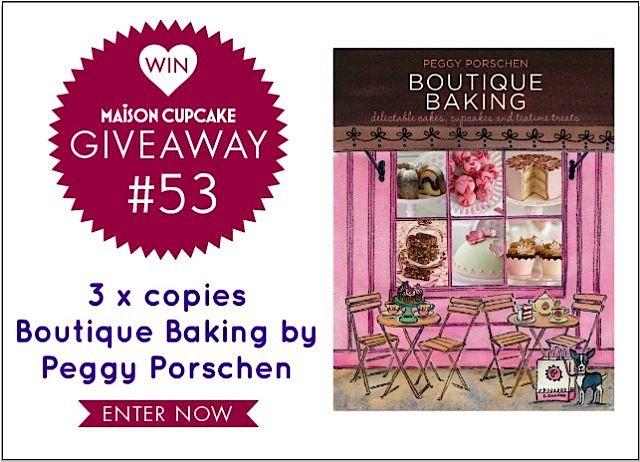 Giveaway  Peggy Porschen's bookBook Worth, Porschen Book, Baking Products, New Book, Boutiques Baking, Maison Cupcakes, Win Boutiques, Porschen Boutiques, Maisoncupcak