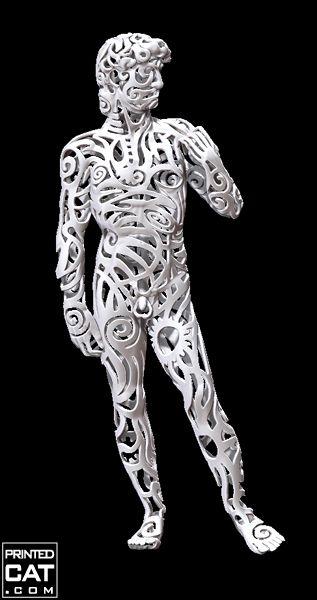 3D printed statue of Michelangelo's David by 3D artist and designer Valeriya Promokhova   3D Printing Wonders