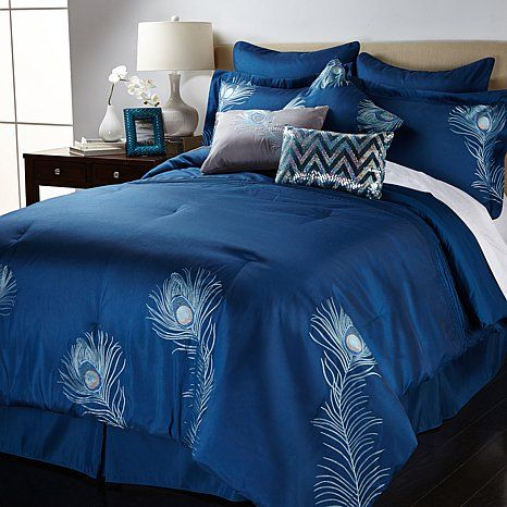 Shop vern yip home embroidered peacock 9 piece comforter set read customer reviews and more at - Peacock bedspreads ...