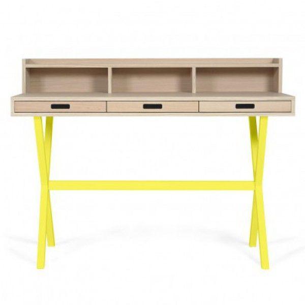 Schreibtisch Hyppolite Zitronengelb - Kinderzimmer - Mami and Me