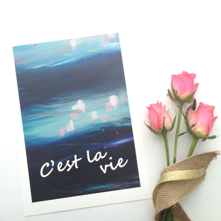 'C'est la vie is French forThat's life... It includes a section of the 'Awakening'artwork from 'The Journey Collection'an original painting by Mel Boyd. It is an open edition print, A4 size and is printed on beautiful 200gsm museum quality cotton rag with pigment inks.
