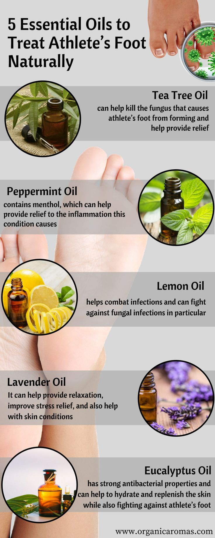 5 Essential Oils to Treat Athlete's Foot Naturally - Organic Aromas