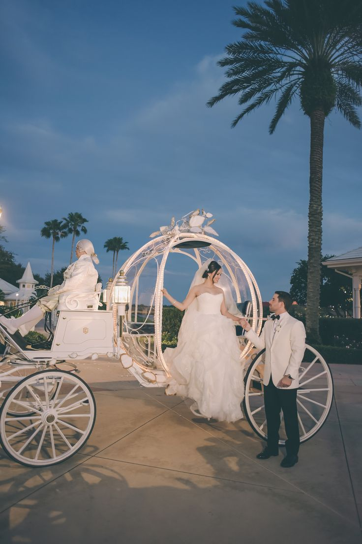 Love birds Erica & Ozzie had the fairy tale wedding of their dreams at Disney's Wedding Pavilion