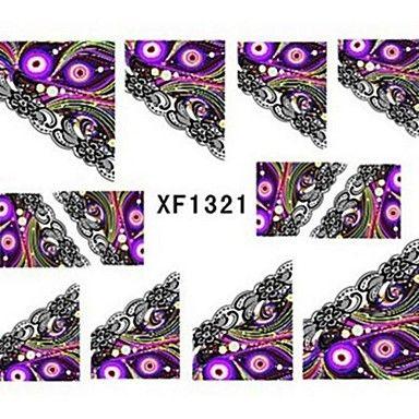 water transfer printen nagel stickers xf1321 - EUR € 1.93