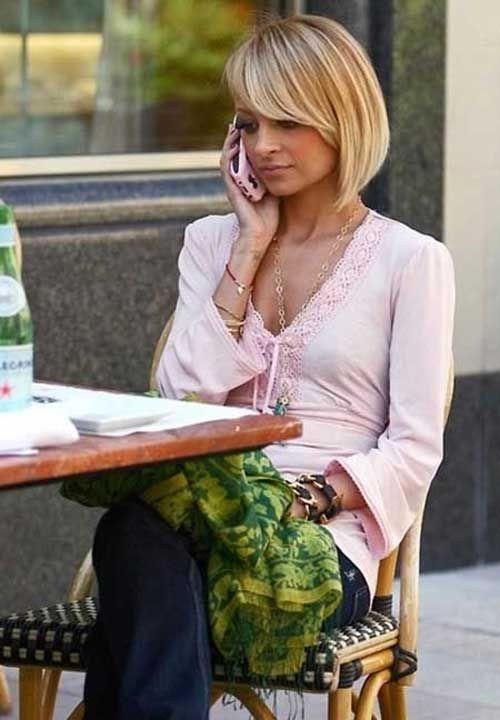 Nicole Richie Charming and Feminine Bob Haircuts