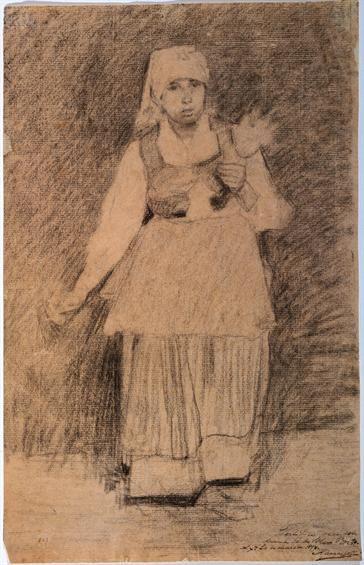 Silva Porto, Napolitana fiando, 1877 Museu do Chiado