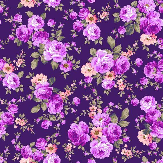 Purple Flower Backdrop Floral Wallpaper Printed Backdrop Photography Background G1196 Flower Backgrounds Flower Background Wallpaper Purple Flower Background