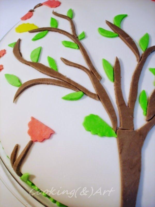 Δέντρο από ζαχαρόπαστα / Sugar paste tree !