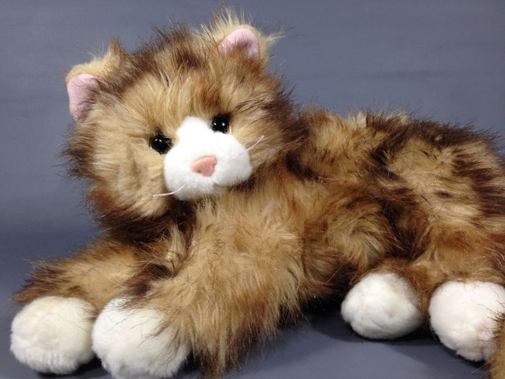 Ty Classic Beanie Buddy JUMBLES Persian Plush Cat PINK EARS Stuffed Animal 2009 #Ty
