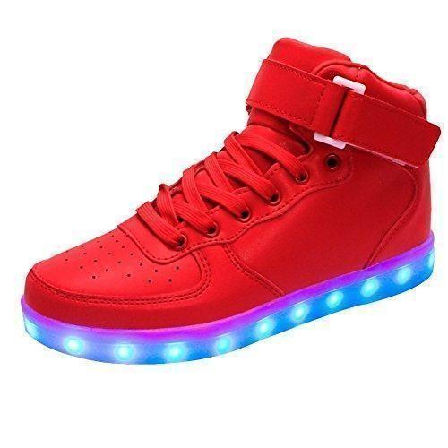 Oferta: 35.6€. Comprar Ofertas de Zapatilla LED 2016 Nuevo Zapatos luminosos LED de carga USB Zapatilla de deportes Hightech barato. ¡Mira las ofertas!