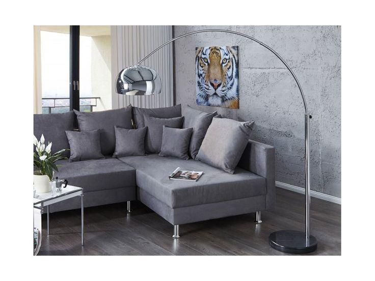 Lampa Podłogowa Big Bow I chromowa — Lampy podłogowe Invicta Interior — sfmeble.pl