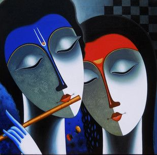 Melody - Painting by Santosh Chattopadhyay